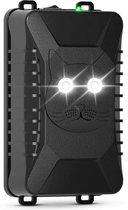Marterverjager voor in de Auto, Binnen of Buiten op Batterijen, Accu of USB Kabel - Kattenverjager - Muizenverjager - Ratten verjager - Veilige en diervriendelijke AlwaysCare™ Ultrasone Verjagers met verblindend licht - Zwart