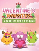 valentine's monster coloring book for kids