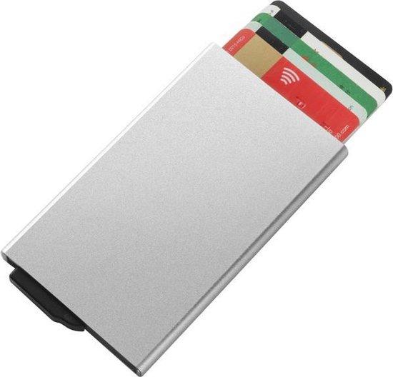 Creditcardhouder - Uitschuifbaar - 6 pasjes - RFID beschermer - Zilver