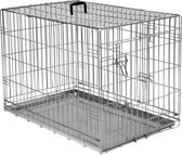 Adori Draadkooi Bench 2 Deurs De Luxe - Verzinkt - M: 92 x 57 x 64 cm