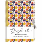 Dagboek met slot voor volwassenen - Circles