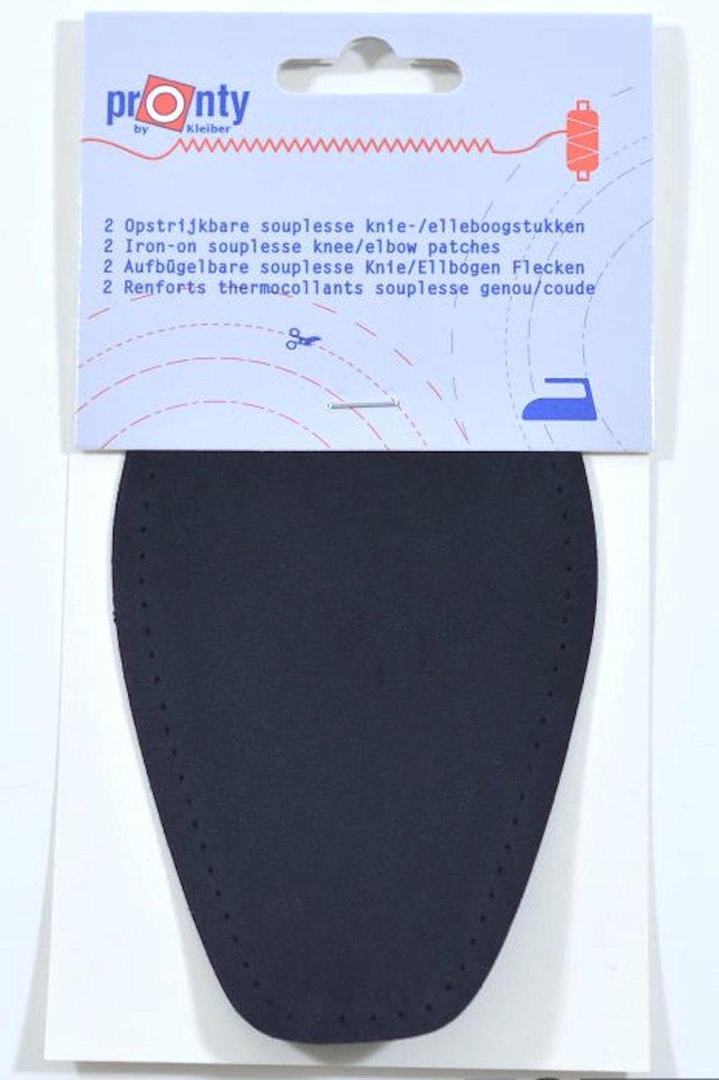 Pronty - 2 opstrijkbare souplesse suede look elleboogstukken zwart - pads voor... - bol.com