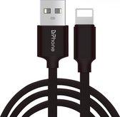 DrPhone  HybridX - Nylon Kevlar Oplaadkabel - 3 Meter - Lightning 8-Pin Kabel - Optimaal Accuduur - Geschikt voor Apple