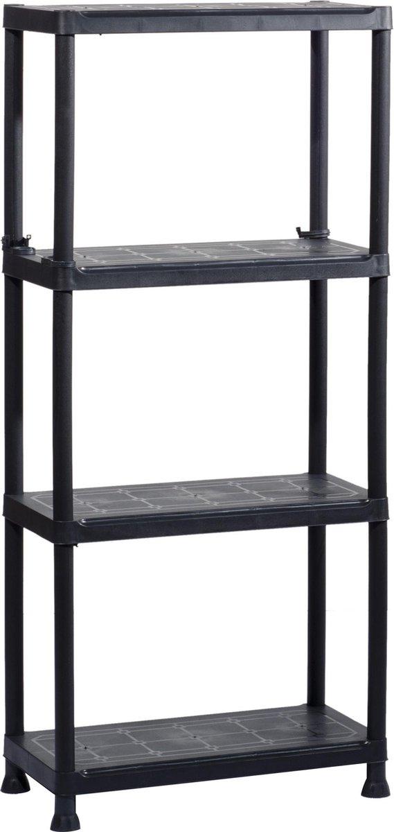 Kis Kunststof Opbergrek / Stellingrek - 4 planken - 60x30x135cm
