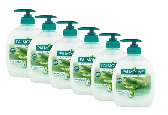 Palmolive Handzeep pomp Hygiene Plus Sensitive 6 x 300 ml