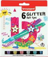 Bruynzeel Kids 6 Glitterstiften