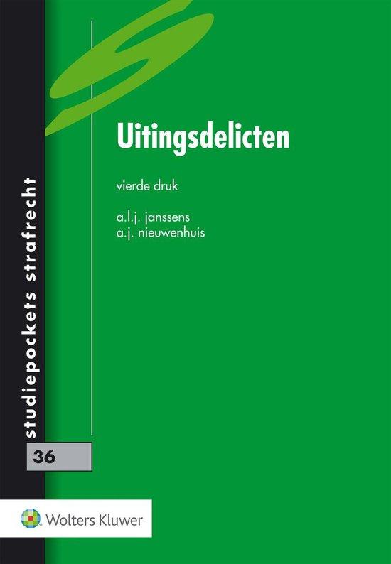 Studiepockets strafrecht 36 - Uitingsdelicten - A.L.J. Janssens |