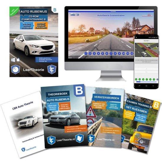Auto Theorieboek 2020 Rijbewijs B | Auto Theorieboek | Auto Theorie Samenvatting | Verkeerborden overzicht | Praktijk informatie | CD-ROM met auto theorie-examens | - Leertheorie |