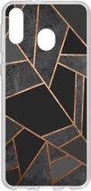 Design Backcover Samsung Galaxy M20 Power hoesje - Grafisch Zwart / Koper
