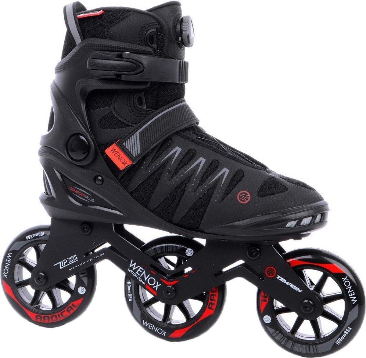 Tempish - Skeelers - Wenox - Top 100 - Zwart/Rood - Maat 43 - Heren - Skates