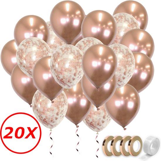 Verjaardag Versiering Helium Ballonnen Feest Versiering Decoratie Confetti Ballon Bruiloft Rose Goud - 20 Stuks