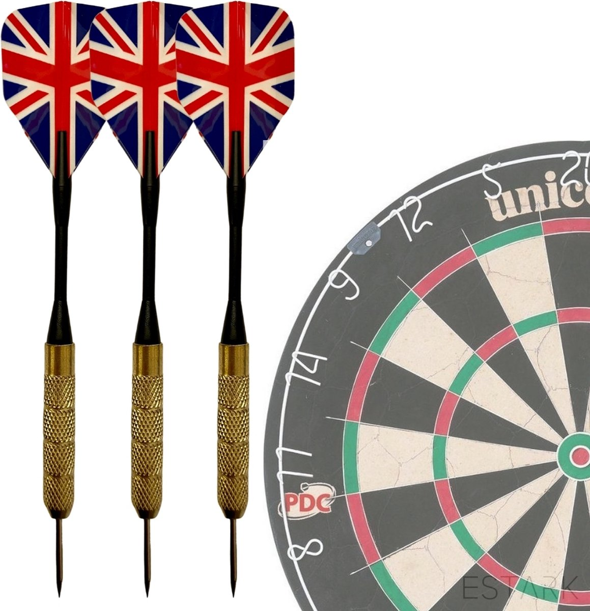 UKdarts - 3 Stevige Complete Dartpijlen - Darts Accessoires - Dartset - Dartpijlen - Darts Pijlen - Darts Flights - Darten - PROFESSIONEEL - 3 Pijlen