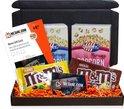 Filmpakket - filmbox cadeau met Jimmy's popcorn, M&Ms, film cadeaukaart voor 1-2 topfilms met evt. een persoonlijk bericht - Thuis bioscoop pakket - meJane.com
