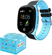 KIDDOWZ Smartwatch Kinderen – GPS Horloge voor Kids – Met Tracker Kind – Kinderhorloge – jongen / meisje – Waterbestendig - HD Camera – Inclusief Simkaart – Blauw