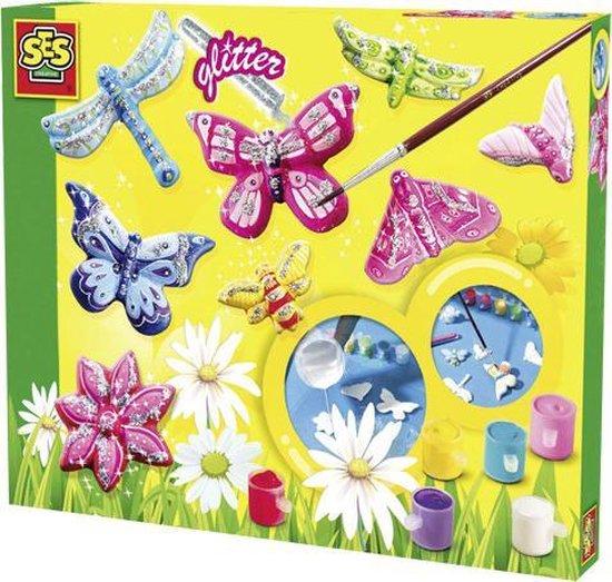 Afbeelding van SES - Gieten en schilderen - Vlinders en glitter speelgoed
