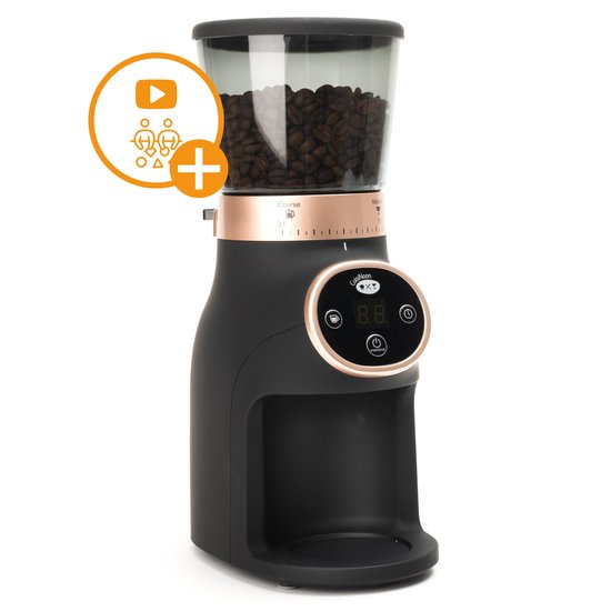 CuisiNoon® Koffiemolen Elektrisch - 31 maalstanden voor alle koffiebonen - Incl. Barista Workshop