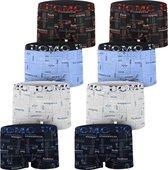 AltinModa® 8 pack jongens ondergoed - Voordelige jongens boxershort - katoenen onderbroek 152/158 5973