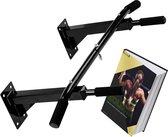 Zoluko Professionele Pull Up Bar Wandmontage - 150kg Draagkracht - Incl. E-boek - Eenvoudige Bevestiging - Optrekstang Fitness - Pull Up Station voor Thuis Sporten - Chin Up Bar - Zwart
