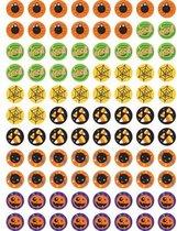 Diverse Halloween Stickers - 880 Halloweenstickers - Spinnen, Boo, Spinnenweg, Duiveltje, Pompoen - Hobbystickers Halloween