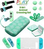 Complete Nintendo Switch Accessoires Set met Case in thema van Animal Crossing New Horizons - 11IN1 - Switch Accessoires voor Controller en Console