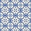 Vloerkleed vinyl | Blauwe Tegels