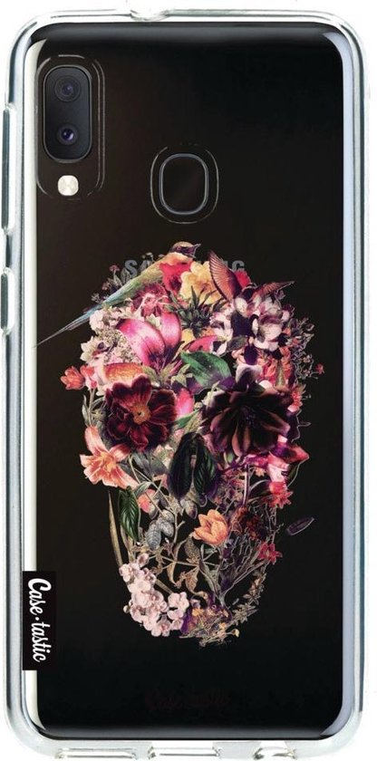 Samsung Galaxy A20e hoesje Transparent Skull Casetastic Smartphone Hoesje softcover case