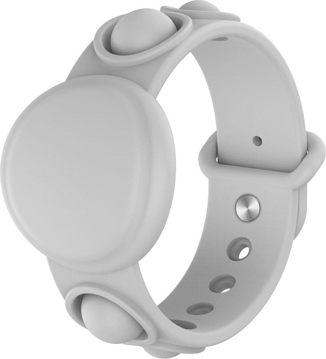 Apple Airtag Sleutelhanger   Airtag Polsband voor Kinderen& Volwassenen Pop It  Grijs