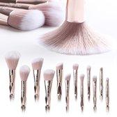 Krexs - Make Up Kwasten Set - Make Up Brush - Oogschaduw - Foundation Kwast - Poeder Kwast - Brush - Make up - Cosmetica - Kwasten Set – Make Up Tasje - 12 Stuks