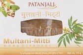 Patanjali Multani Mitti Lichaamsreiniger - Lichaamszeep - Ayuverdisch - Voor Vette en/of Gevoelige Huid - 75 gram