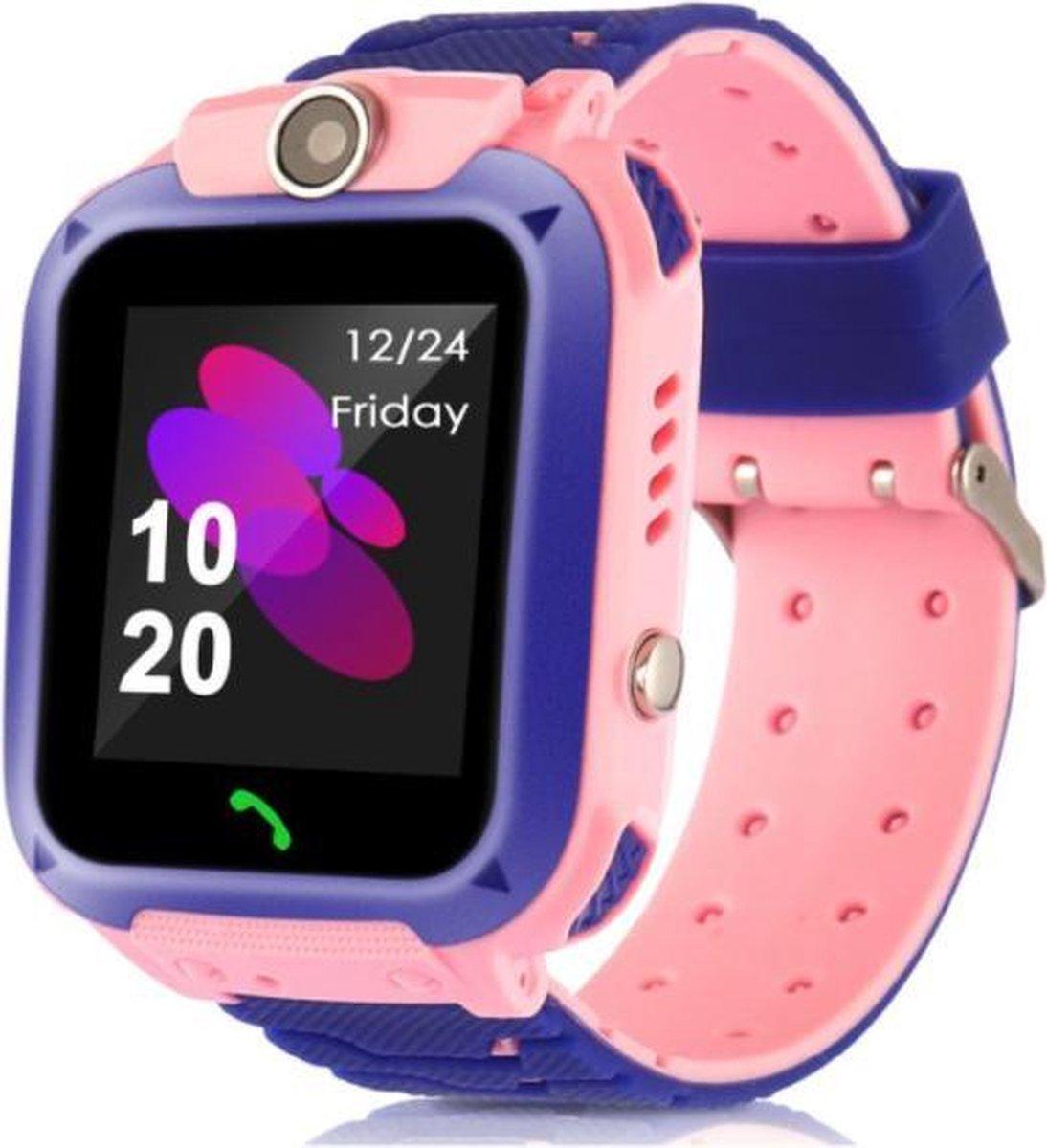 Kinderen Smart Horloge Sos Telefoon Horloge Smartwatch Voor Kinderen Met Sim Card Photo Waterdichte IP67 Kids Gift Voor Ios android Blauw