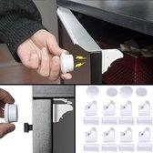 Magnetisch Kinderslot - 10 Sloten + 2 magneetsleutel - Baby Beveiliging - Kast, Deur en Lade slot – Baby veiligheid magneten - Wit
