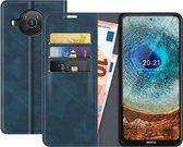 Nokia X20/X10 Bookcase hoesje - Just in Case - Effen Blauw - Kunstleer