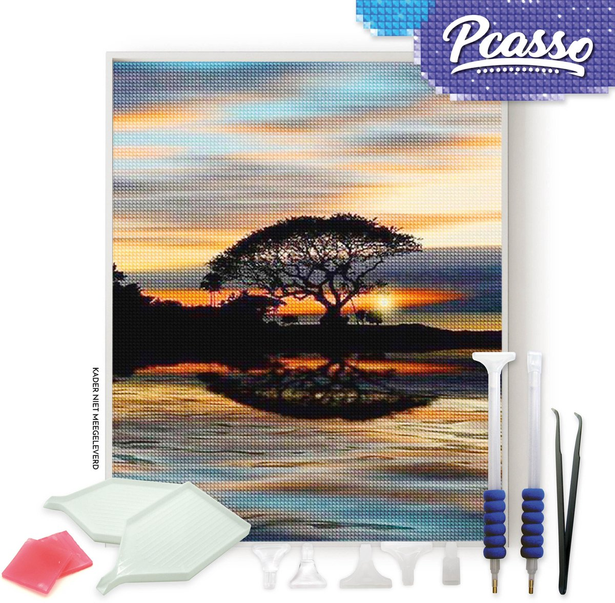 Pcasso ® Zonsondergang - Diamond Painting - Incl. Veel Diamond Painting Accessoires - Diamond Painting Kinderen - Diamond Painting Dieren - Diamond painting volwassenen - 30x40 CM