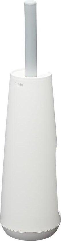 Tiger Tess Toiletborstelhouder vrijstaand met Swoop® borstel flexibel - Wit / Lichtgrijs