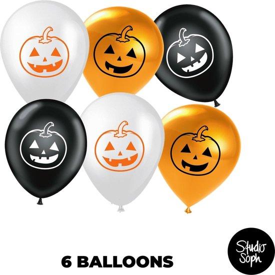6 Halloween Ballonnen - Halloween Decoratie - Halloween Versiering - Pompoen Decoratie - Party - Feest
