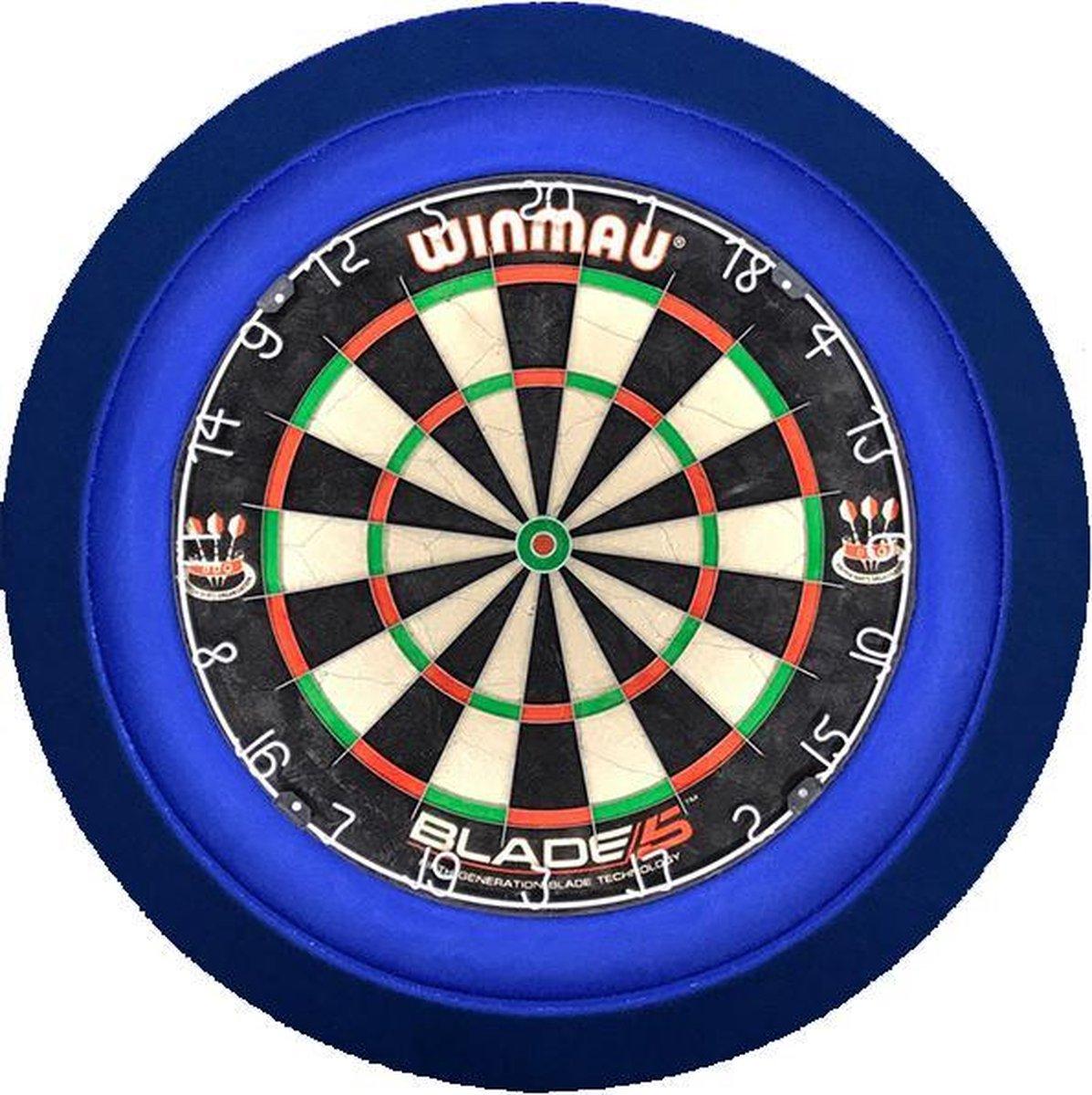 Dartbord met Verlichting Voordeelpakket (Blauw) + Blade 5 + Lena DeLuxe