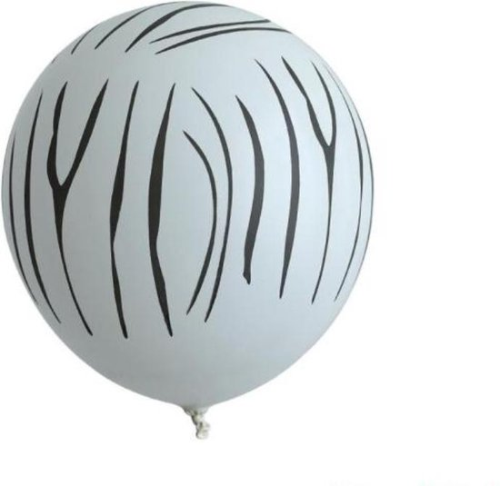 10 x Witte ballonnen | Zebra print | Jungle print | Jungle feest | Jungle party | Thema feest