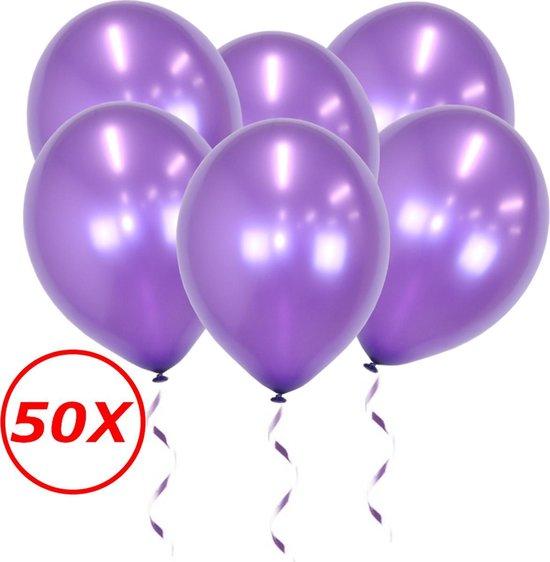 Paarse Ballonnen Metallic 50St Feestversiering Verjaardag Ballon