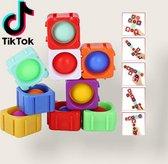 6 Stuks Grote Simple Dimple - Fidget toy - Popit - spel - puzzel - Speelgoed - Diy Bouwstenen - Gezien op Tiktok.