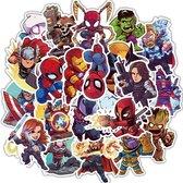 Marvel Stickers - 50 stuks - Marvel - Spiderman stickers - Avengers stickers - Captain America stickers  - Stickers volwassenen - Stickers kinderen - Laptop stickers