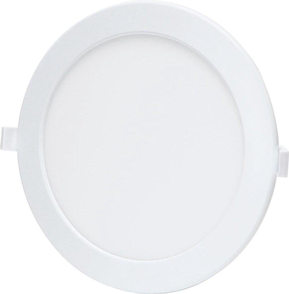 LED Downlight - Smart LED - Igory Zumba - 18W - Aanpasbare Kleur - Inbouw Rond - Mat Wit - Aluminium - Ø220mm
