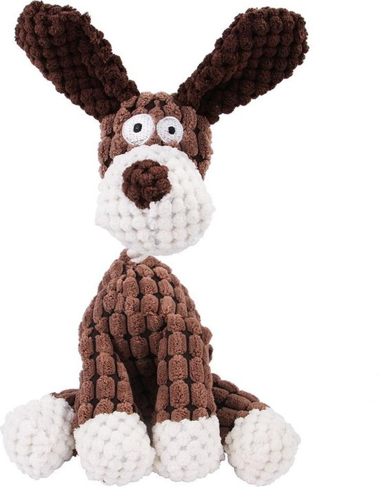 Pluche Hondenknuffel Hond Met Piep Honden Speelgoed - Dutchwide®
