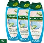 Palmolive Aroma Sensations Feel the Massage Douchegel - 3 x 500ml - Voordeelverpakking