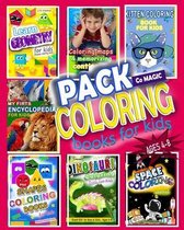 Pack Coloring Books for Kids Ages 4-8