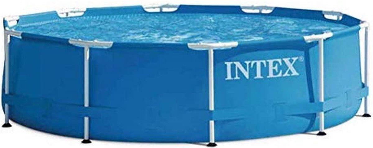 |zwembad|opblaas zwembad| Intex Rondo Opbouwzwembad met frame, blauw, Ø 305 x 76 cm
