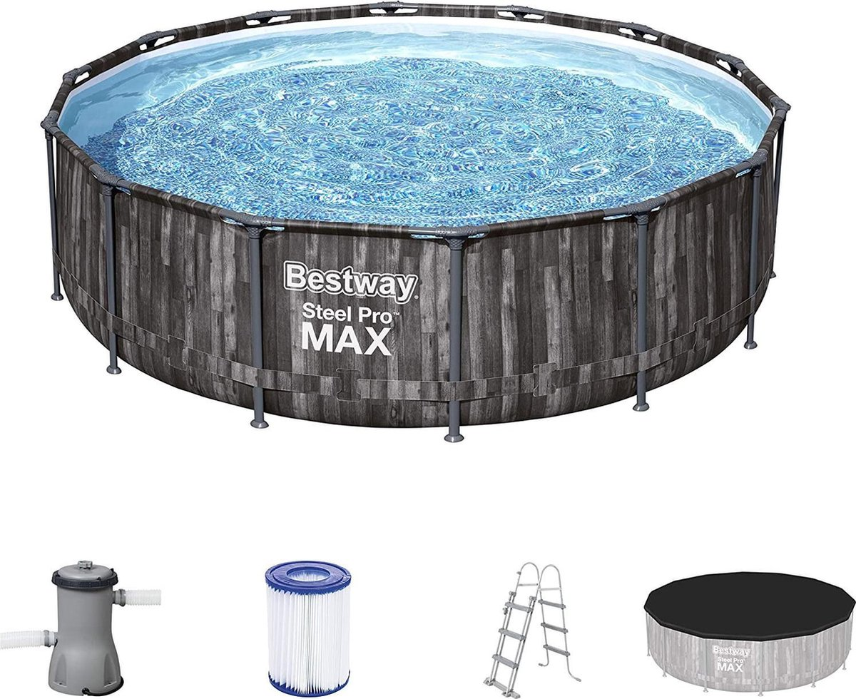 |zwembad met filterpomp|zwembad|Steel Pro Max Zwembaden, 4,27 x 1,07 m, met accessoireset, meerkleurig