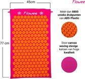 Flowee Spijkermat – Fuchsia met oranje – (77cm x 45cm) – Acupressuur mat – Acupressure mat