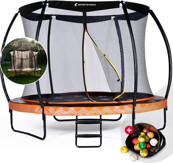 SPORTSTECH HTX500 trampoline outdoor Ø 244/305 cm | Kindertrampoline...