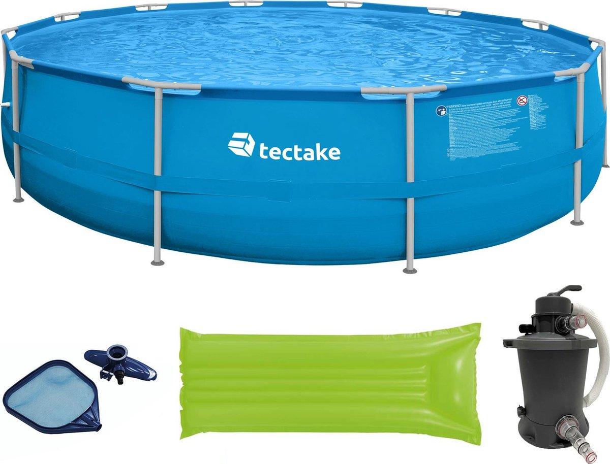 tectake - Swimming pool zwembad Merina 450x122 cm met veel accessoires - 403825
