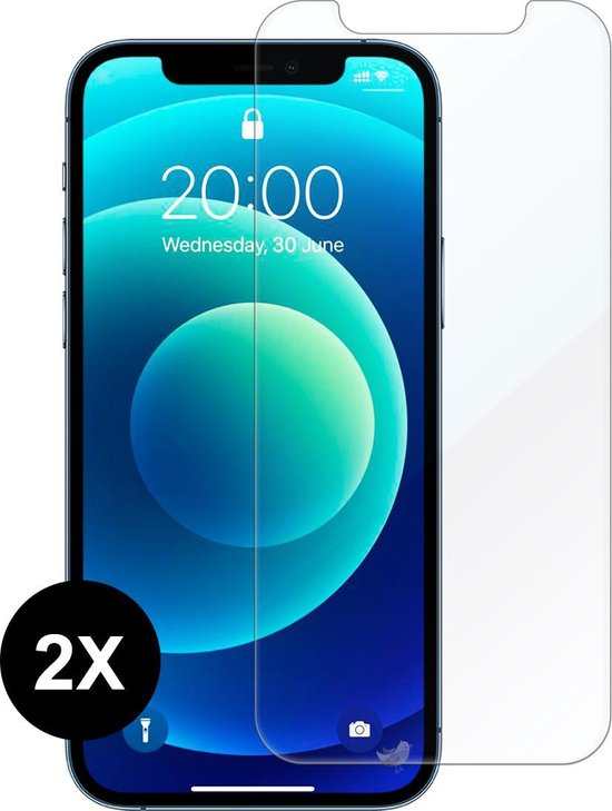 iPhone 12 Screenprotector - iPhone 12 PRO Screen Protector Glas - 2 stuks - Beschermglas